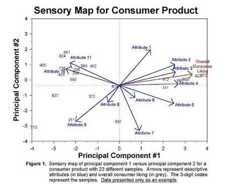 Sensory map for consumer product